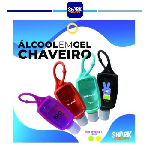 Álcool em Gel Chaveiro Personalizado