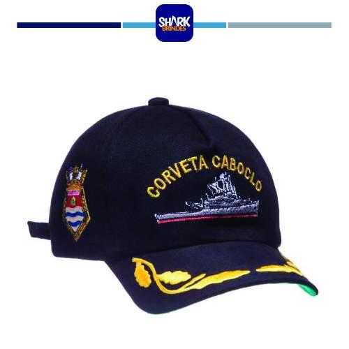 Boné Bordado Padrão Marinha