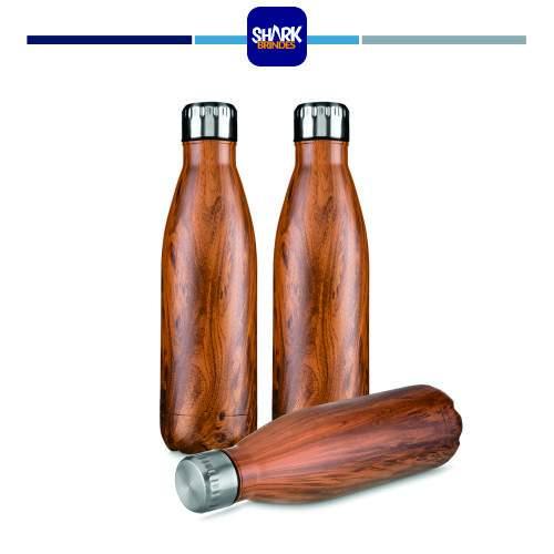 Garrafa aço inox Wood Personalizada